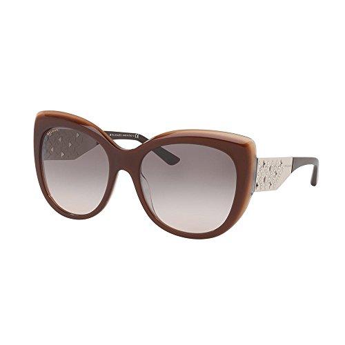 Bulgari 0BV8198B 54423B 57 Gafas de sol, Marrón (Trilayer Brown Beige/Pinkgradientgrey), Mujer