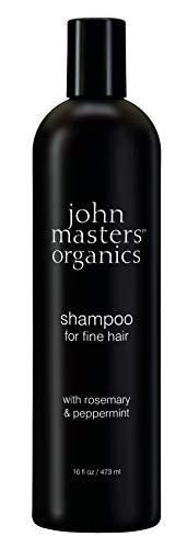 JOHN MASTERS ORGANICS Shampoing pour Cheveux Fins au Romarin/Menthe Poivrée 473 ml