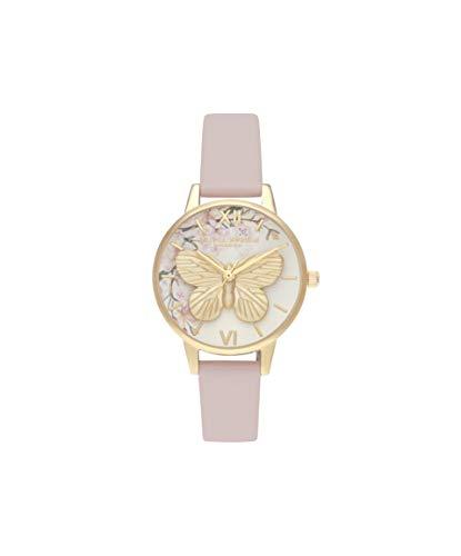 Olivia Burton Reloj Analógico para Mujer de Cuarzo con Correa en Cuero OB16EG125