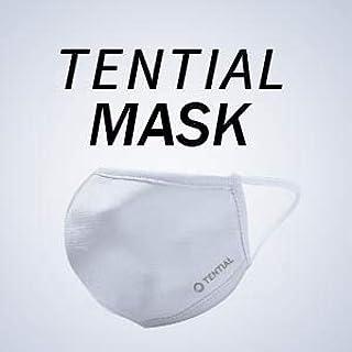TENTIAL (テンシャル) マスク/通気性/抗菌・消臭/涼しい/立体型/スポーツ素材/洗える/UVカット/おしゃれ (グレー, R)