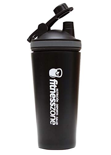 Fitness Zone | BPA Shaker 750 ml | Small Cocktail Bottle for Protein Shakes or Other Drinks | Anti-Splash Cap + Clump Filter | Shaker and Mixer for High Quality Shakes