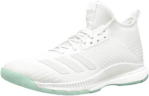 adidas Women's Crazyflight X 2 Mid Volleyball Shoe, White/Blue Tint/Clear Mint, 14 M US
