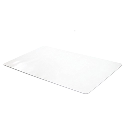 """Office Desk Pad, Clear Textured Desk Mat - 47 x 23"""" Inch Plastic Full Desk Mouse Pad, Computer Desk Mat for Home or Office (47 x 23"""" Inch, Clear)"""