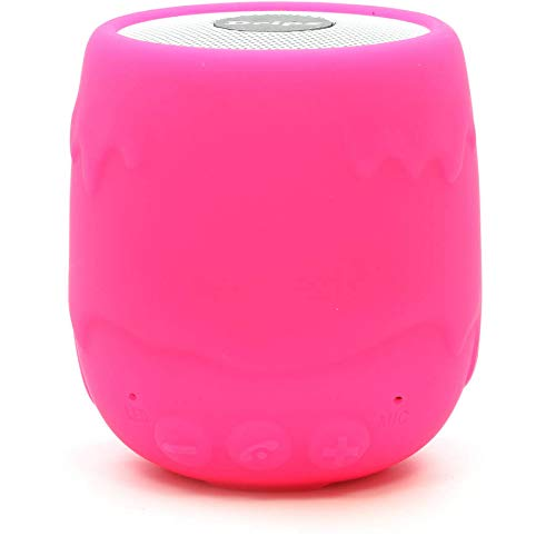 iHip Drips Wireless Speaker Bluetooth with Talking Caller ID Pink