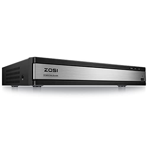 ZOSI 16CH 1080N 720P 4in1 TVI AHD CVI Analog DVR Recorder H.265+ Digital Video Receiver Aufzeichnungsgerät ohne Festplatte für CCTV Überwachung, HDMI VGA Ausgang