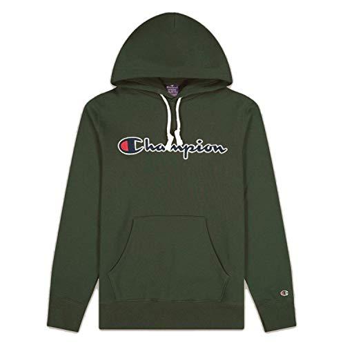 Champion Hooded Sweatshirt Hombre BLV 214718GS505 Verde Talla L
