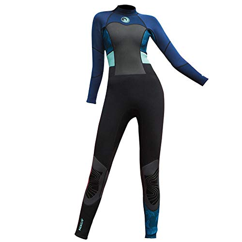 LOPILY Damen Neoprenanzug Wetsuit Schnorchelanzug Schnorcheln Surfbekleidung Wassersport Anzug Schnelltrocknend UV Schutz Sonnenschutz Schwimmanzug(Schwarz,XS)