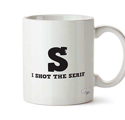 HippoWarehouse I Shot la Serif Diseñador Gráfico taza de 10oz taza, cerámica, blanco, One Size (10oz)
