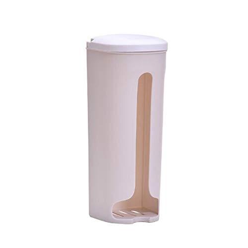 ZDZQTM Colgar de la Pared de la Cocina Bolsa de Basura de Almacenamiento en Rack Cocina Baño Bolsa de plástico nórdica Estilo Tapa de la Zapata Bolsa de Basura Caja de Almacenamiento (Color : Beige)