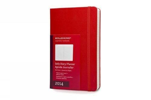 Moleskine Klassischer Tageskalender 2014 / Large / Fester Einband / Rot (Moleskine Diaries)
