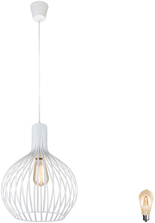 Decken Pendel Hnge Lampe Design gefchert Leuchte Beleuchtung im Set inklusive LED Leuchtmittel