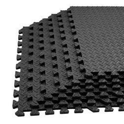 BISEN 6 stks 24 Sq Ft EVA Schuim Blad Graan Tegels Antislip Mat Yoga Mat Interlocking Tegels Vloer Beschermend Kussen Kamer Workout Fitness Equipment