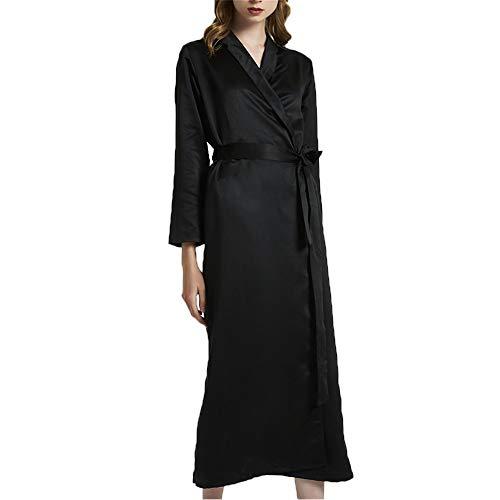 Robe Dames Satin Lange Kimono Robe Badjas Pyjama Nachtkleding Badjas Women's Robes Bridesmaids Bride Lingerie Robes Nachtkleding Revers Sexy Pyjama Met Oblique V-hals M-XXL