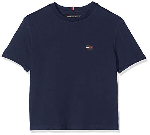 Tommy Hilfiger Tommy Hilfiger Baby-Jungen Essential Boxy Flag S/S T-Shirt, Blau (Black Iris 002), (Herstellergröße: 92)