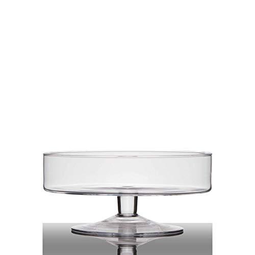 Hakbijl Glasschale auf Fuß Cylinder H. 13cm D. 29cm rund transparent