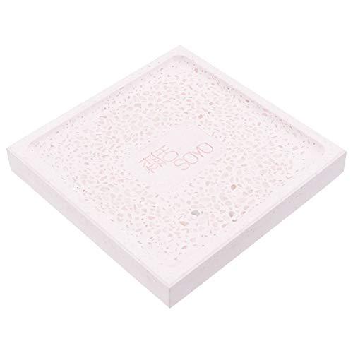 PRETYZOOM Water Absorbent Diatomite Soap Dish Soap Holder Fast Water Absorbent Soap Bar Holder for Bathroom Bathtub Shower Kitchen Pink