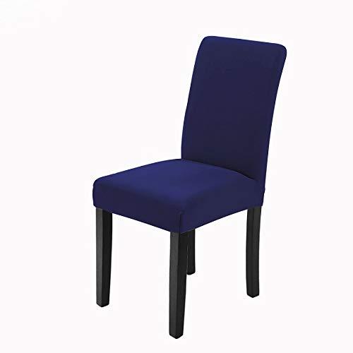 Veakii R Fundas para sillas Pack de 4 Fundas sillas Comedor, Lavable Comedor Asiento Cubre para el Comedor casero Modern Bouquet de la Boda, Hotel, Decor Restaurante(Azúl)