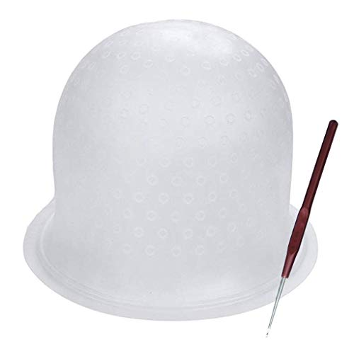 Highlight Caps mit Coloring Hair Hook, Zuckerguss Coloring Cap, Professional Salon Silikon Friseurwerkzeuge