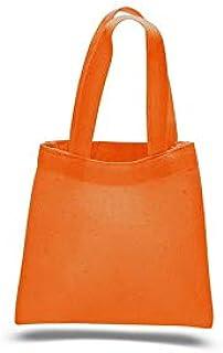 Q-Tees QTBM Mini Tote Bag-Orange-ONE