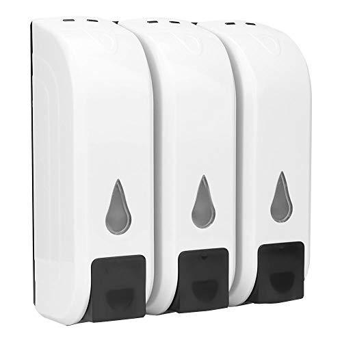 Garosa Zeepdispenser, drie afzonderlijke koppen, geen lekken, brede knop, wandmontage zeepdispenser ABS-materiaal voor de badkamer