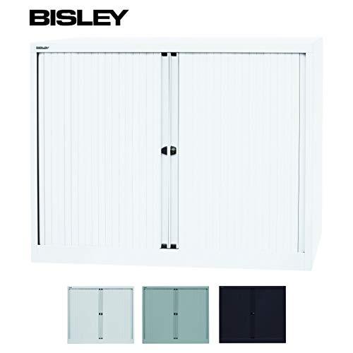 BISLEY Cupboard met slot Rolladenschrank/Metaal/Kunststof rolluiken Afsluitbaar met 2 planken/Rollladenschrank TÜV/GS Getest/Verkrijgbaar in 3 kleuren