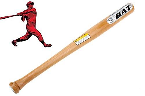 CLICLED Mazza da Baseball Softball Legno da 72cm 29' Sport Allenamento Adulti Bambini