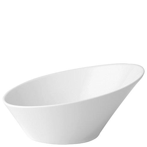 Utopia Anton Noir en porcelaine fine Z03093–000000-b01006 Elipse biseau Bol, 21 cm (lot de 6)