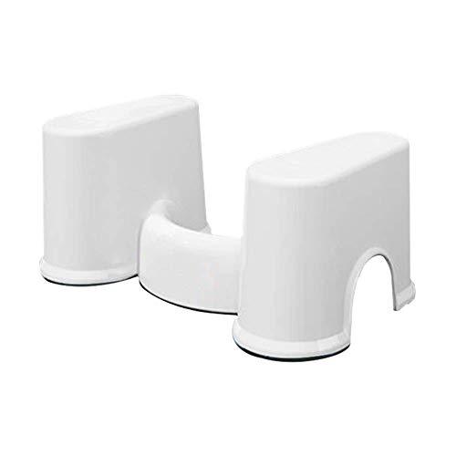 WWWWW-DENG barkruk, voor toilet, dik kunststof, voor zwangere vrouwen, als tapijt voor uw huis, meerdere vakken (kleur: wit, maat: groot)