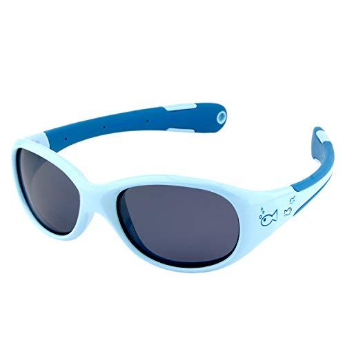 ActiveSol gafas de sol para BEBÉ | NIÑO | 100% protección UV 400 | polarizadas | irrompibles, de goma flexible | 0-24 meses | 18 gramos (Talla L, Pez)