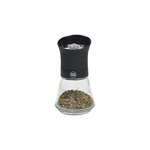 T&G CrushGrind Spice Mill with Removable Glass Base, 12.5 cm, Bl