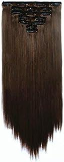 Beautiful soft elegant 7pcs long straight hair extension 55cm wig for ladies XW7006-13