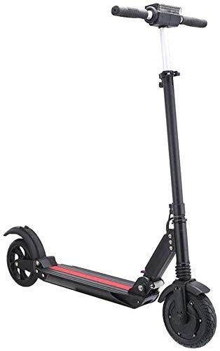 WJHCDDA Erwachsener Roller elektrisch Elektro-Scooter Faltbarer elektrische Skateboard mit Lithium-Batterie-Anzeige...