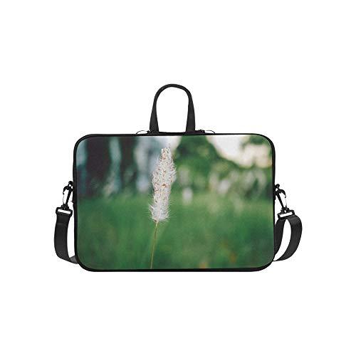 Schöne Wiese Borstengras Muster Aktentasche Laptoptasche Messenger Schulter Arbeitstasche Crossbody Handtasche Für Geschäftsreisen