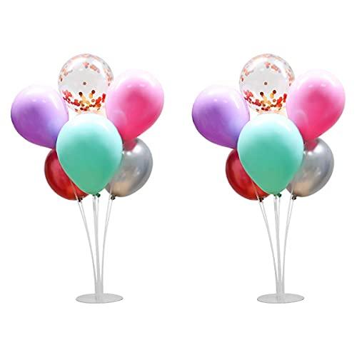 QGKJ Soporte de Globos,Clear Balloon Stand Kit,Soporte para globos para globos de fiesta de cumpleaños y decoración de boda (2 Set + Ballons)