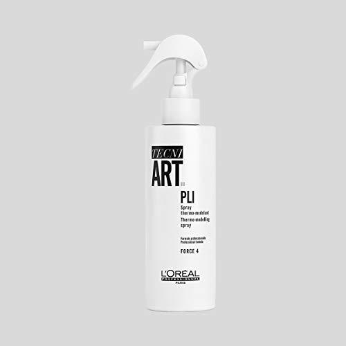 L'Oréal Professionnel Paris - Tecni.Art Pli Shaper Spray professionale modellante, per tutti i tipi di capelli, attivato con il calore di piastra o phon, per onde o una piega con volume, 190ml