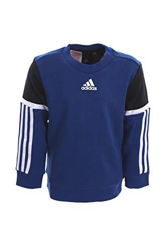 adidas Jungen B Bold Crew Sweatshirt, Azurea/Tinley, 128 (7/8 años)