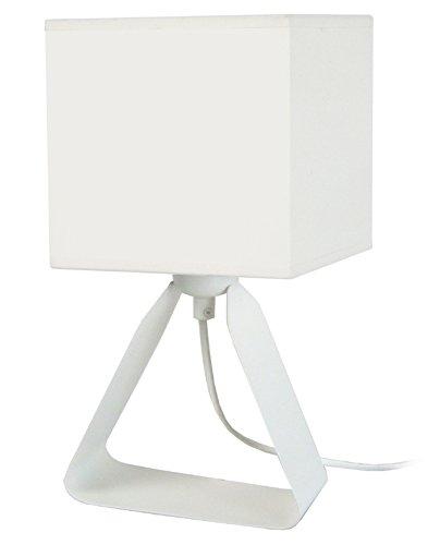 Tosel 64035camelia lámpara de noche chapa acero/pintura epoxi/algodón color blanco 180x 290mm)