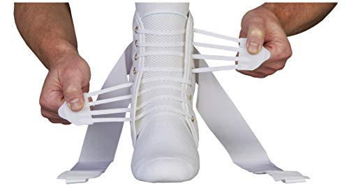 ASO Speed Lacer Ankle Stabilizer, White, Small