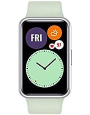 ساعة هواوي تناسب الساعة الذكية مع هيكل معدني نحيف، شاشة اموليد حية 1.6 بوصة، رسوم متحركة سريعة للتدريب، عمر بطارية 10 أيام، كشف تشبع الأكسجين