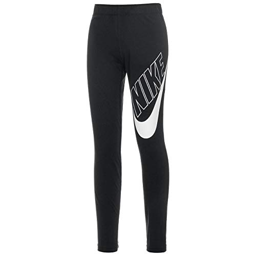 NIKE G NSW Favorites Gx Legging Sport Trousers, Niñas, Black/White c/o, XS