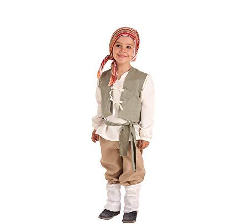 Creaciones Llopis Disfraz de Campesino Medieval Carlos para niño