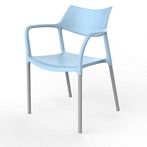 resol grupo Splash Bar Set de 2 sillas con Brazos de diseño para Interior, Exterior, jardín, Azul Cielo, 79 x 57 x 54 cm