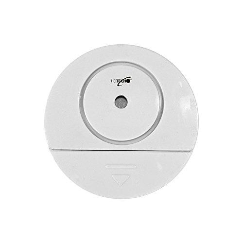 Heitech Fensteralarm/Glasbruchalarm mit 90dB lautem Signal, Klein und Kompakt, Schutz vor Einbrechern, Alarmanlage. Kompatibel für jedes Fenster/Tür/Auto auch Wohnwagen.