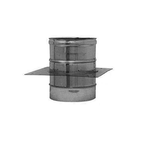 Piastra di base con tubo maschio/femmina in acciaio inox per canna fumaria (DN 200)