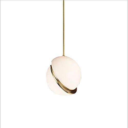 VIWIV Lámpara de estilo nórdico con diseño de media luna, lámpara de material acrílico, iluminación creativa de cabeza única, utilizada en dormitorio, restaurante, cafetería