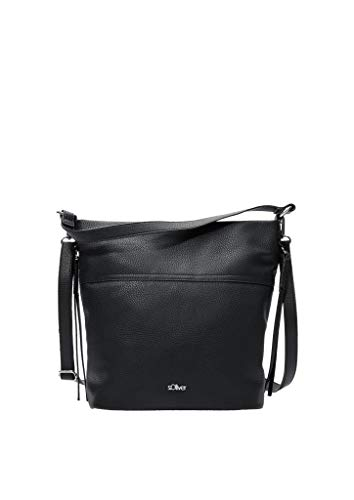 s.Oliver RED LABEL Damen Shoulder Bag in Glattleder-Optik black 1