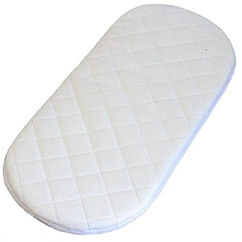 Casa D'Or 75 x 28cm Quilted Breathable Foam Moses Mattress Pram Basket Baby Mattress Rounded Ends