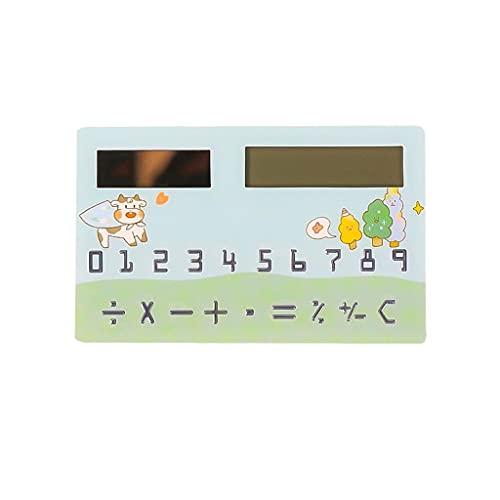 LEGU Calculadoras Básicas Solar Powered 8 Dígitos Bolsillo Mini Calculadora De Tamaño Slim para El Hogar De La Oficina Regalo De La Calculadora Calculadoras (Color : Blue)