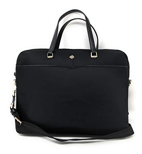 Kate Spade New York Jae Nylon Laptop Shoulder Bag Handbag in Black