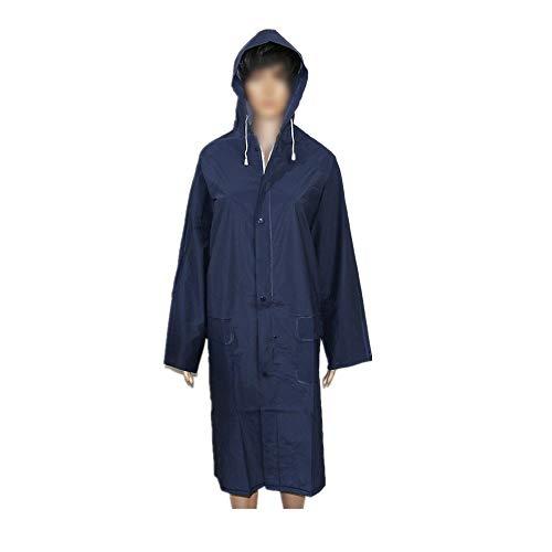 Poncho Camping en Plein air Surplus Raincoat Poncho imperméable Poncho légèrement Raincoat Veste récupérable Sport Raincoat (Color : Navye, Size : XXL)
